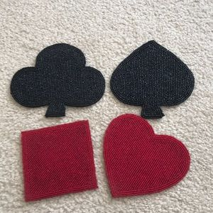 Heart, Spade, Diamond, Club coasters